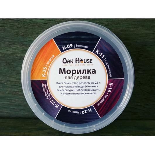 Морилка для дерева Oak House Зеленая сухая - интернет-магазин tricolor.com.ua