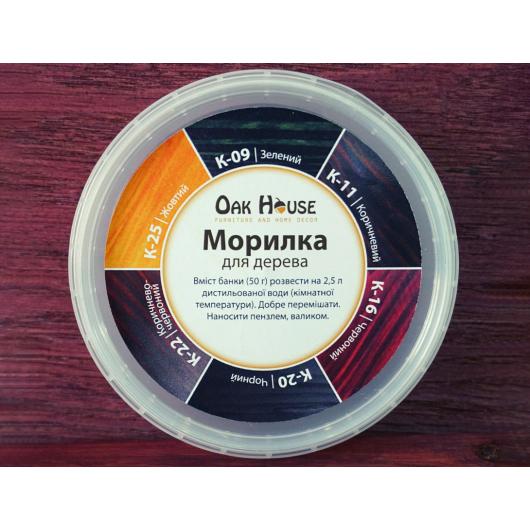 Морилка для дерева Oak House Красная сухая - интернет-магазин tricolor.com.ua