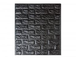 Самоклеящаяся декоративная 3D панель «Кирпич» 5 мм #19 черная
