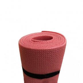 Коврик-каремат Izolon Спортик 5 140х50 красный с резинками