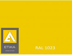Краска порошковая полиэфирная Etika Elektro Транспортно-желтая RAL 1023 глянцевая