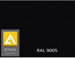 Краска порошковая полиэфирная Etika Elektro Черный янтарь RAL 9005 полуглянцевая