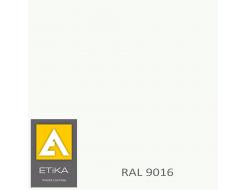 Краска порошковая полиэфирная Etika Elektro Транспортная белая RAL 9016 глянцевая