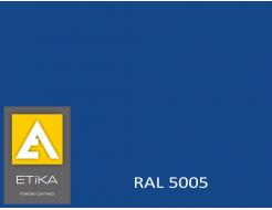 Краска порошковая полиэфирная Etika Tribo Сигнально-синяя RAL 5005 шагрень