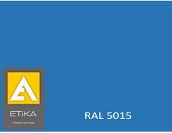 Краска порошковая полиэфирная Etika Tribo Синяя RAL 5015 глянцевая