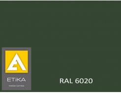 Краска порошковая полиэфирная Etika Tribo Зеленая RAL 6020 глянцевая