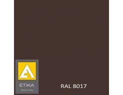 Краска порошковая полиэфирная Etika Tribo Коричневая RAL 8017 глянцевая