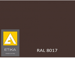 Краска порошковая полиэфирная Etika Tribo Коричневая RAL 8017 шагрень