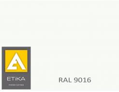 Краска порошковая полиэфирная Etika Tribo Транспортно-белая RAL 9016 матовая
