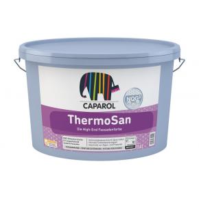 Краска фасадная силиконовая Caparol ThermoSan NQG B1 белая защищает от водорослей и грибка