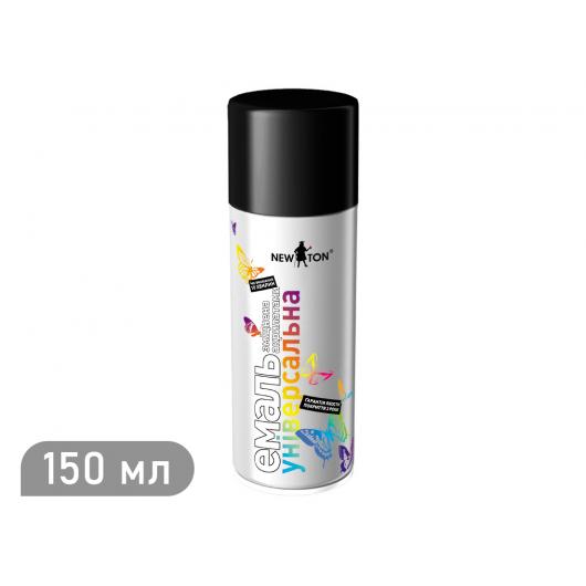 Аэрозоль универсальный New Ton черный (RAL 9005) 150 мл
