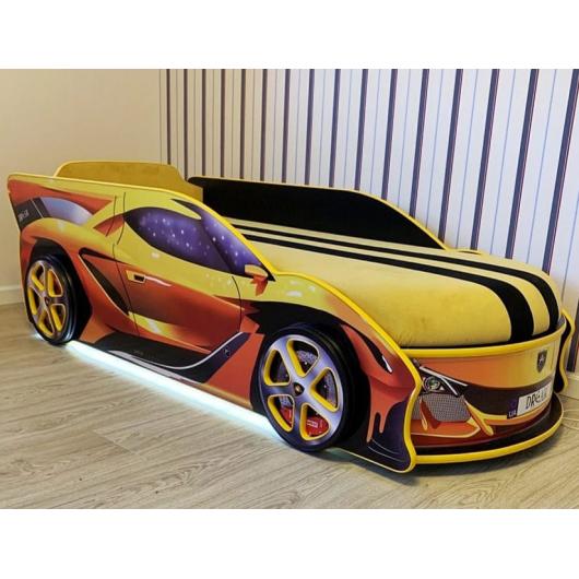 Кровать машина Lamborghini 70х150 ДСП с подъемным механизмом - изображение 2 - интернет-магазин tricolor.com.ua