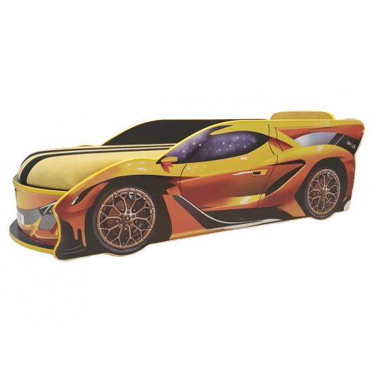 Кровать машина Lamborghini 80х180 ДСП без подъемного механизма - интернет-магазин tricolor.com.ua