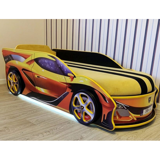 Кровать машина Lamborghini 80х180 ДСП с подъемным механизмом - изображение 2 - интернет-магазин tricolor.com.ua