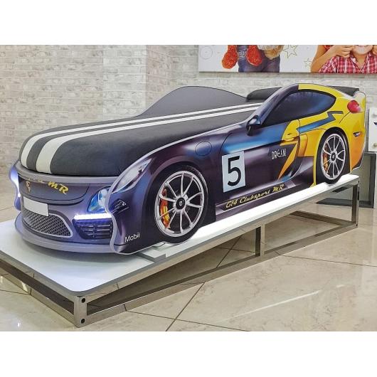 Кровать машина Porsche Серая 70х150 ДСП без подъемного механизма - изображение 2 - интернет-магазин tricolor.com.ua