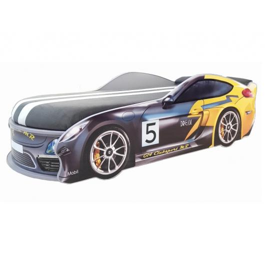 Кровать машина Porsche Серая 80х180 ДСП с подъемным механизмом - интернет-магазин tricolor.com.ua