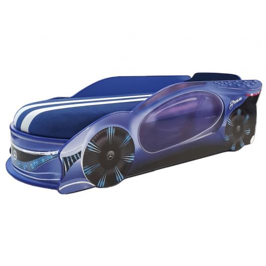 Кровать машина Mercedes Dream Синяя 70х150 ДСП с подъемным механизмом
