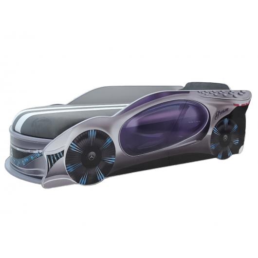 Кровать машина Mercedes Dream Серая 80х180 ДСП с подъемным механизмом