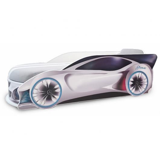 Кровать машина Mercedes Dream Белая 70х150 ДСП с подъемным механизмом
