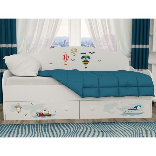 Кроватка диванчик Путешествия 80х190 ДСП