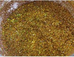 Глиттер голографический GGGO/0,4 мм (1/64) золотой Tricolor - изображение 2 - интернет-магазин tricolor.com.ua