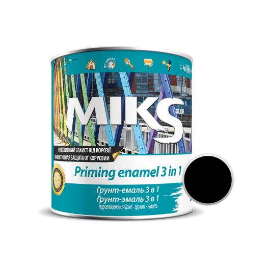 Грунт-эмаль Miks 3 в 1 черная (RAL 9005) - интернет-магазин tricolor.com.ua