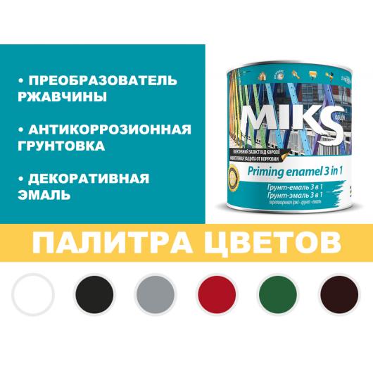 Грунт-эмаль Miks 3 в 1 черная (RAL 9005) - изображение 2 - интернет-магазин tricolor.com.ua