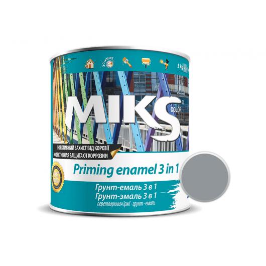 Грунт-эмаль Miks 3 в 1 графитно-серая (RAL 7024) - интернет-магазин tricolor.com.ua