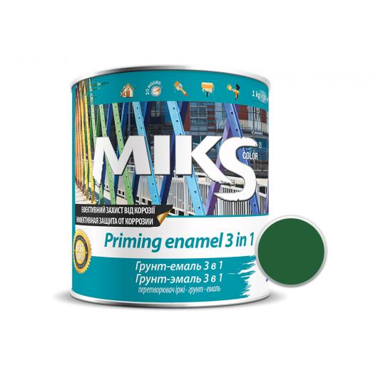 Грунт-эмаль Miks 3 в 1 зеленая (RAL 6035) - интернет-магазин tricolor.com.ua