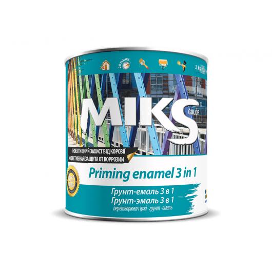 Грунт-эмаль Miks 3 в 1 синяя (RAL 5005) - интернет-магазин tricolor.com.ua