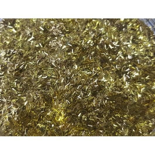 Глиттер люрекс GLGO/0,2*1,5 мм золотой Tricolor - изображение 2 - интернет-магазин tricolor.com.ua