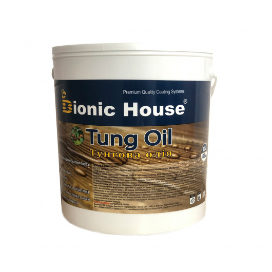 Масло тунговое Tung oil Bionic House Тик - изображение 2 - интернет-магазин tricolor.com.ua