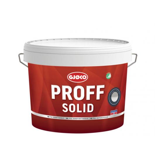 Краска интерьерная Gjoco Proff Solid 5 моющаяся матовая база C прозрачная