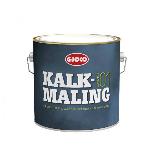 Краска интерьерная известковая Gjoco Kalkmaling матовая белая