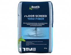 Шпаклевка цементная Bostik Floor Screen 1050 Fiber нивелирмасса 6-50 мм для теплых полов