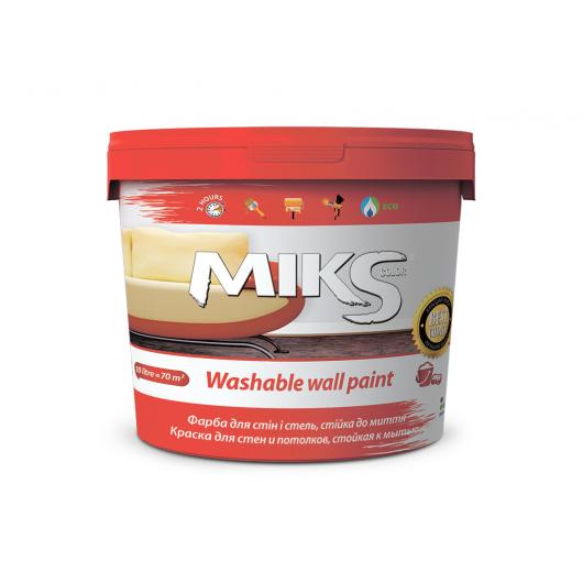 Краска Miks Color для стен и потолков стойкая к мытью