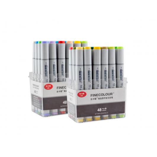 Набор маркеров Finecolour Sketchmarker 48 цветов - изображение 2 - интернет-магазин tricolor.com.ua