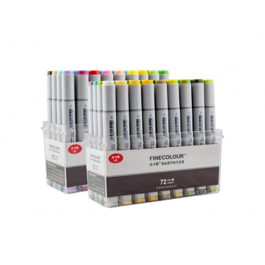 Набор маркеров Finecolour Sketchmarker 72 цвета - изображение 2 - интернет-магазин tricolor.com.ua