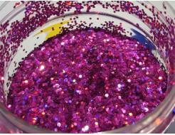 Купить Глиттер голографический GG-12/1,0 мм (1/24) розовый Tricolor - 11