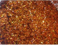 Купить Глиттер голографический GG-15/0,6 мм (1/40) оранжевый Tricolor - 22