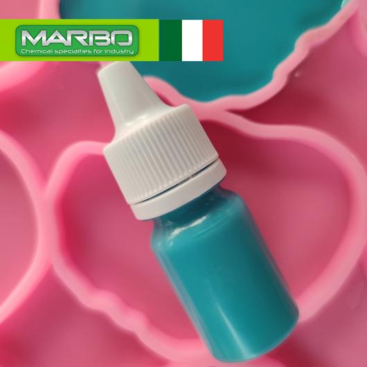 Профессиональный краситель для смол и полиуретанов Marbo Pastello #72 Карибский бирюзовый - интернет-магазин tricolor.com.ua