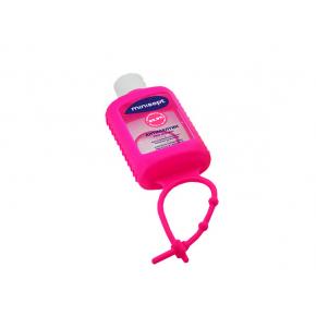 Антисептик Minisept гель спиртосодержащий дезинфекция для рук и кожи в розовом чехле - интернет-магазин tricolor.com.ua