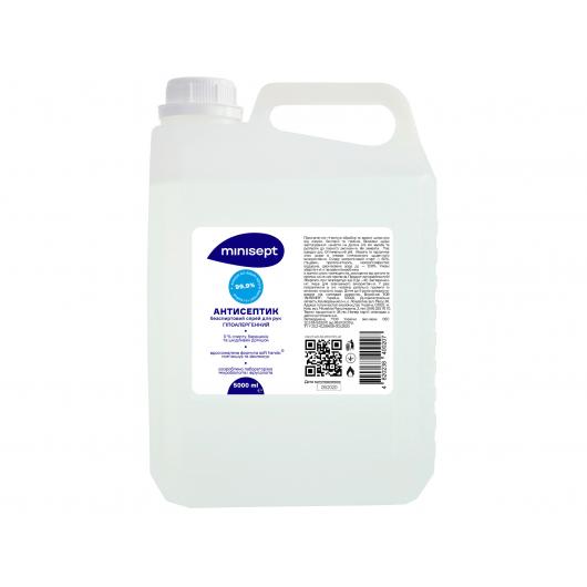Антисептик Minisept жидкость без спирта дезинфекция для рук и кожи для пенных диспенсеров