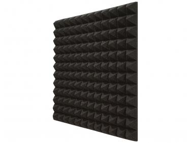 Панель «Пирамида» из негорючего (самозатухающего) акустического поролона EchoFom «Brilliance» 600х600х50 мм черная