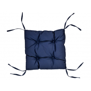 Подушка на стул Dotinem Color синяя 40х40 - интернет-магазин tricolor.com.ua