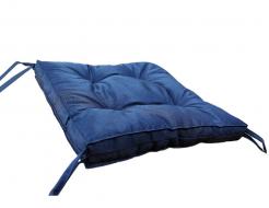 Подушка на стул Dotinem синяя 40х40 - изображение 2 - интернет-магазин tricolor.com.ua