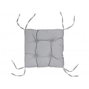 Подушка на стул Dotinem Color серая 40х40