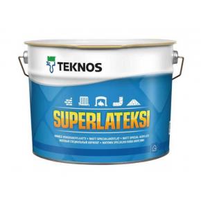 Водоразбавляемая акрилатная краска для стен и потолков Teknos Superlateksi База3 прозрачная