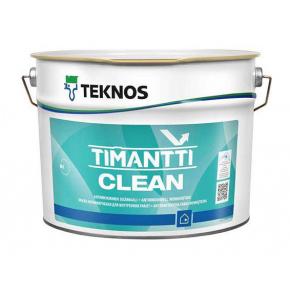 Водоразбавляемая акрилатная полуматовая краска Teknos Timantti Clean База 1 белая