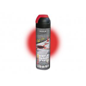 Аэрозольная акриловая флуоресцентная краска Biodur для сигнальной маркировки (красная)